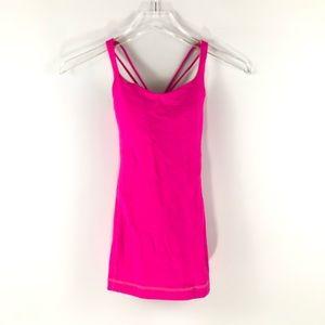 Lululemon neon pink tank top
